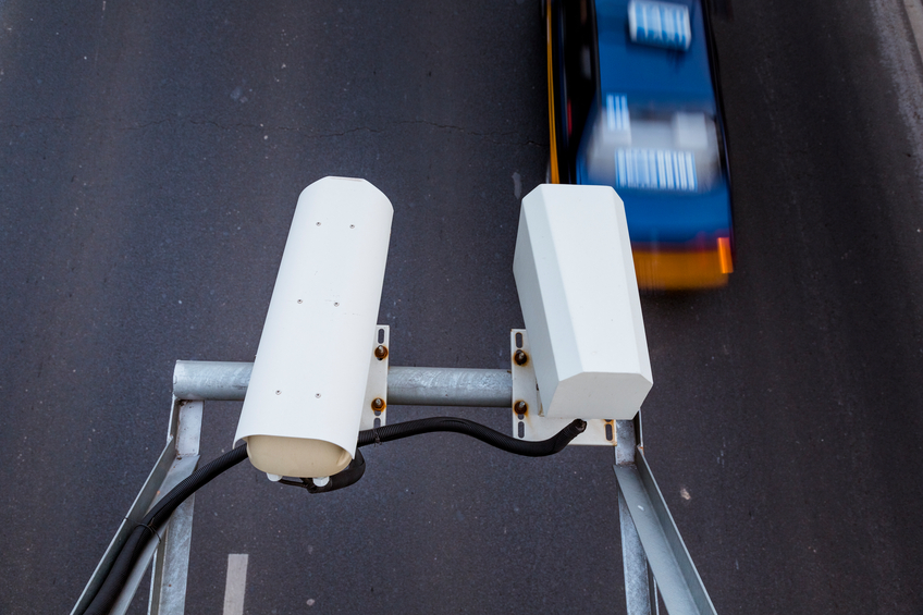 traffic surveillance camera mounted on the street, blue toned image, adobe rgb 1998 use...........